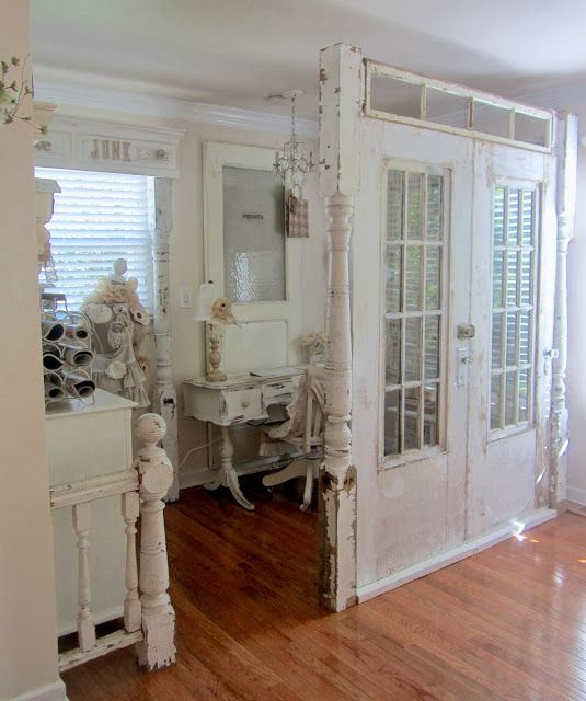 Love This Using Old Doors To Make A Wall Room Divider