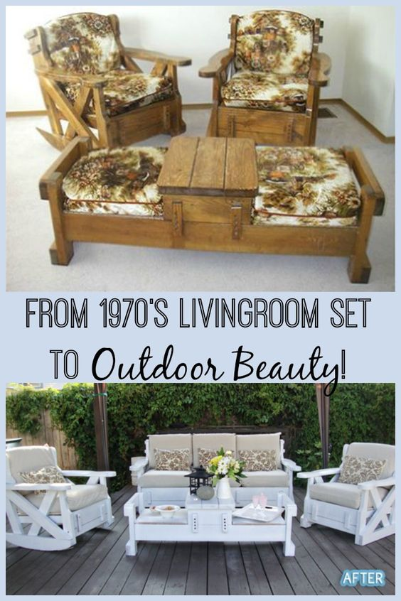 1970's living room furniture, re-purposed into a beautiful ...